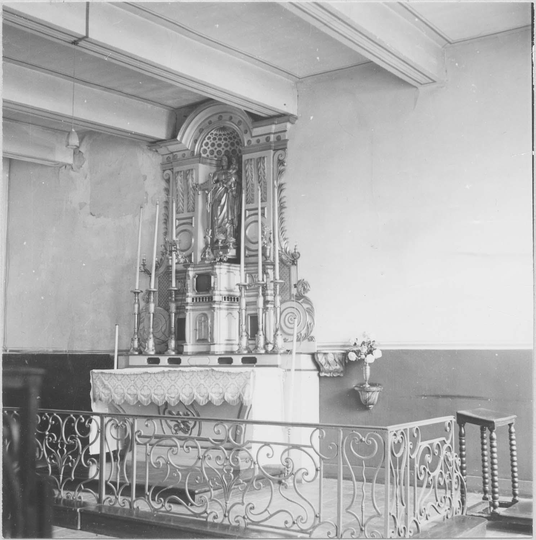 autel, tabernacle, retable, clôture de chapelle (table de communion)