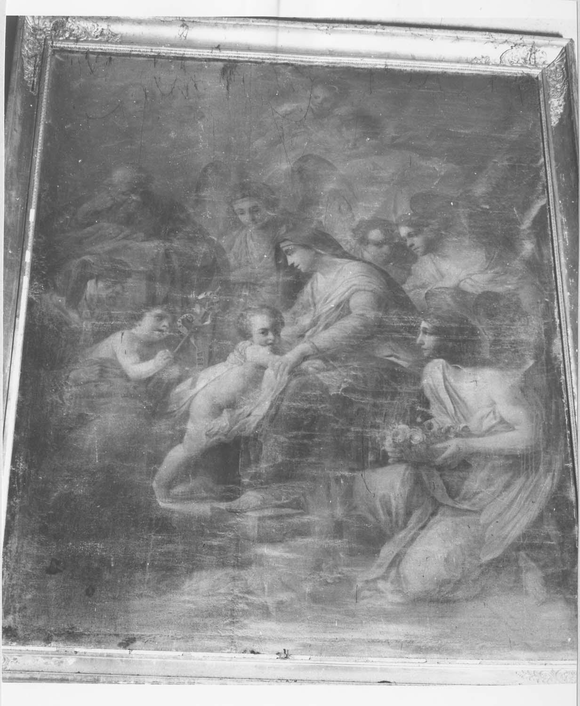 tableau : La Sainte Famille en compagnie de sainte Elisabeth et de son fils