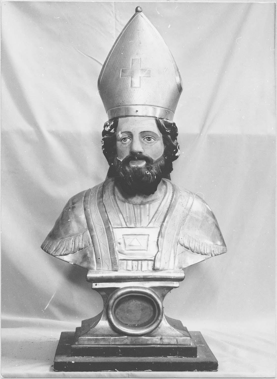 buste-reliquaire : saint évêque non identifié