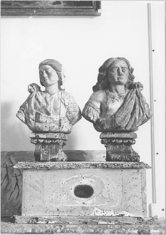 Bustes-reliquaires: saint Assicle, sainte Vctoire