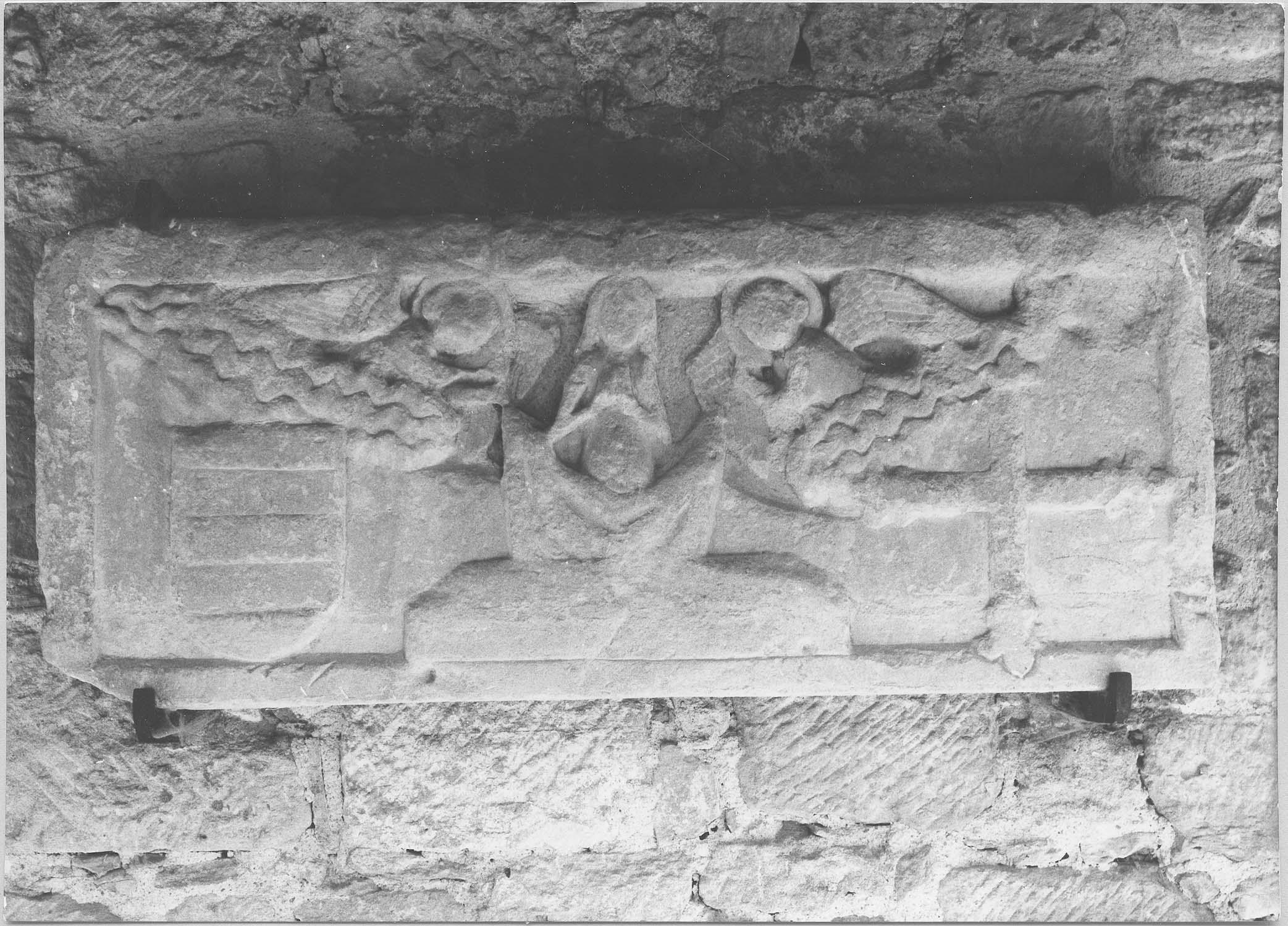 plaque funéraire de Pierre de Soybert, évêque de Saint-Papoul