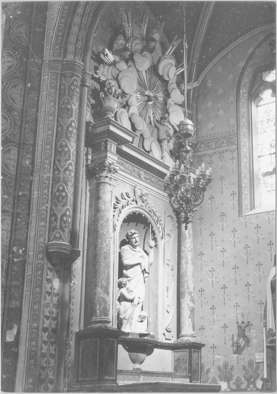 autel, retable, groupe sculpté: saint Roch