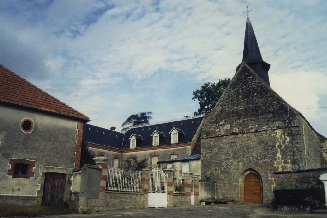 Eglise du prieuré Saint-Nicolas, actuelle église Saint-Nicolas: Façade ouest, vue générale