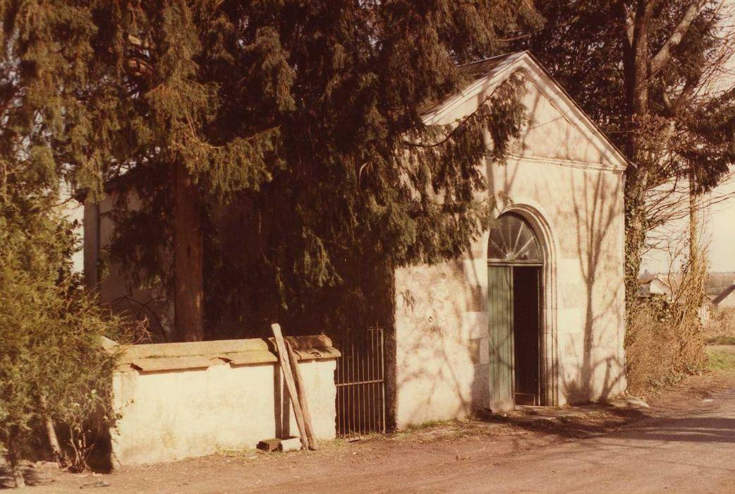 Chapelle de Beauvais, dite aux Bobines: Façade sud-ouest, vue générale