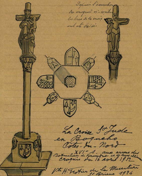 Croix Saint-Yves : vue générale, détails