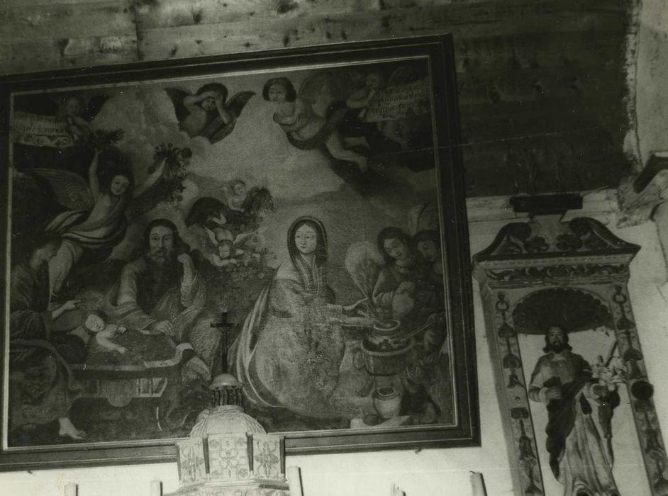 Tableau: Sainte Famille, statue et sa niche : Saint Joseph