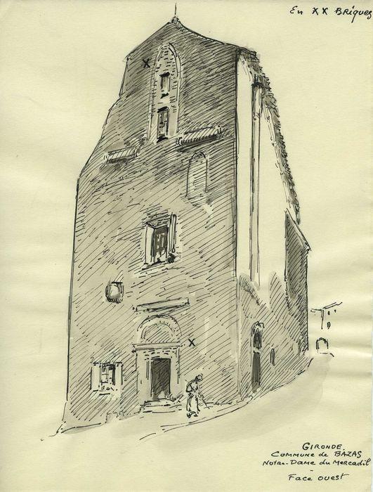 Ancienne église Notre-Dame dou Mercadilh: Façade occidentale, vue générale