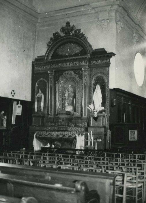 retable du croisillon nord et sa statue : Vierge à l'Enfant