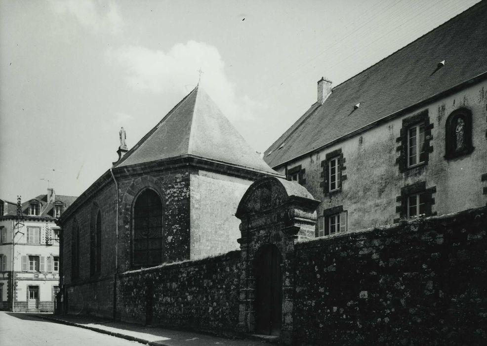 Ancien couvent des Ursulines: Ensemble ouest sur rue, vue générale