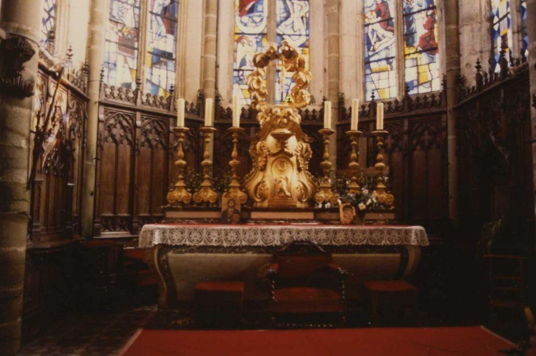 autel, tabernacle, 6 chandeliers (maître-autel)