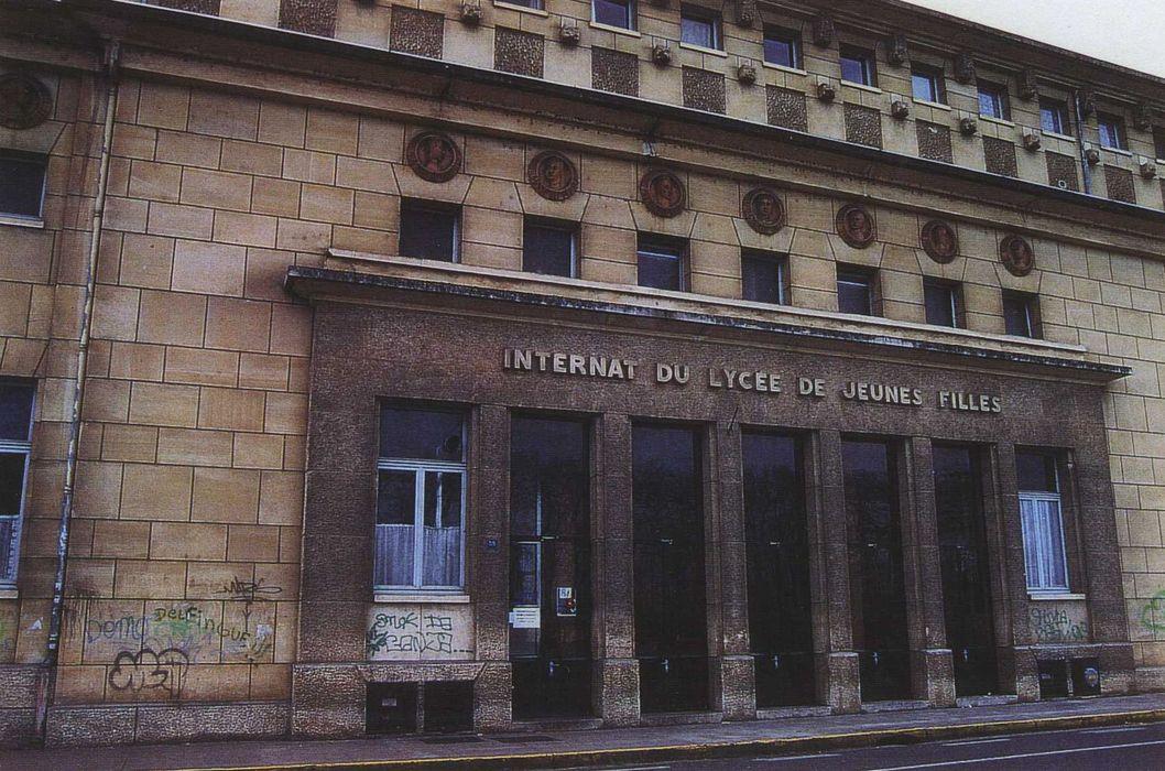 Internat du lycée de jeunes filles, actuel lycée Marguerite de Navarre: Entrée principale, vue générale