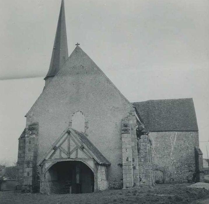 Eglise Saint-Aignan: Façade occidentale, vue générale