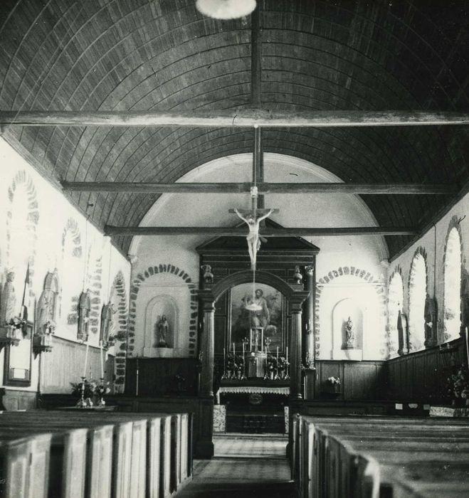 Retable principal du maître-autel avec sa toile peinte : Saint Jean-Baptiste