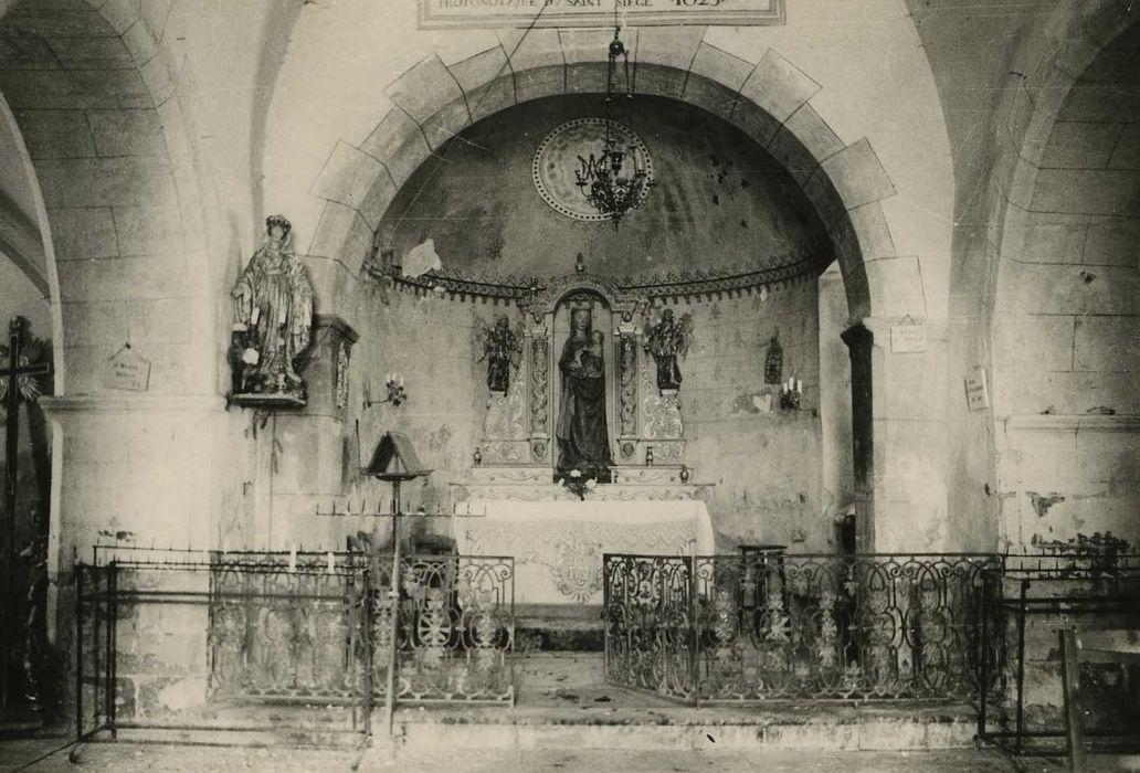Groupe sculpté : Vierge à l'Enfant tenant une colombe