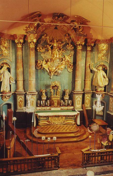 Retable de l'autel de la Vierge.