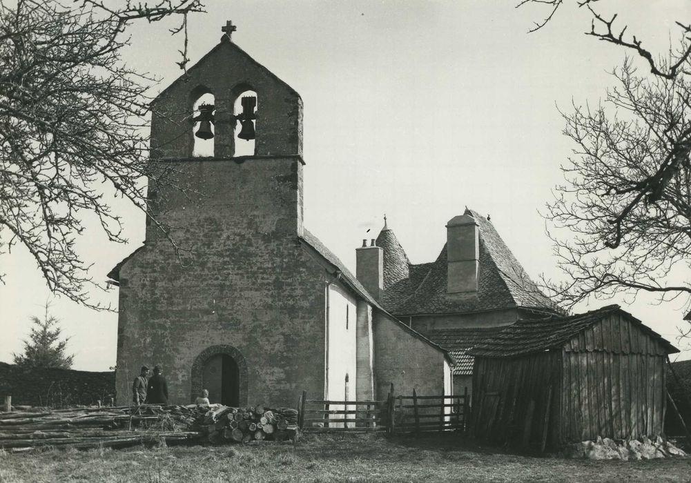Eglise de la Salvetat: Façade ouest, vue générale