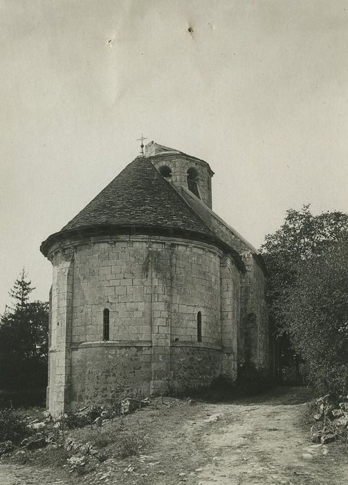 Château de Plaincourault: Chapelle, chevet, vue générale