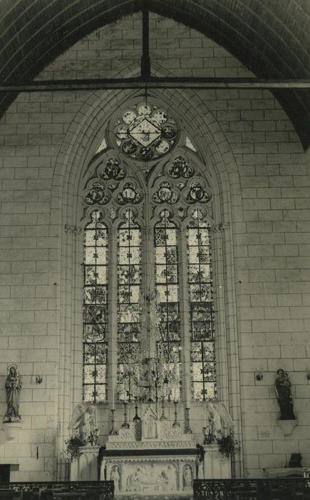 verrières: Saint Michel et le dragon, la Crucifixion,, la Flagellation, Vierge à l'Enfant