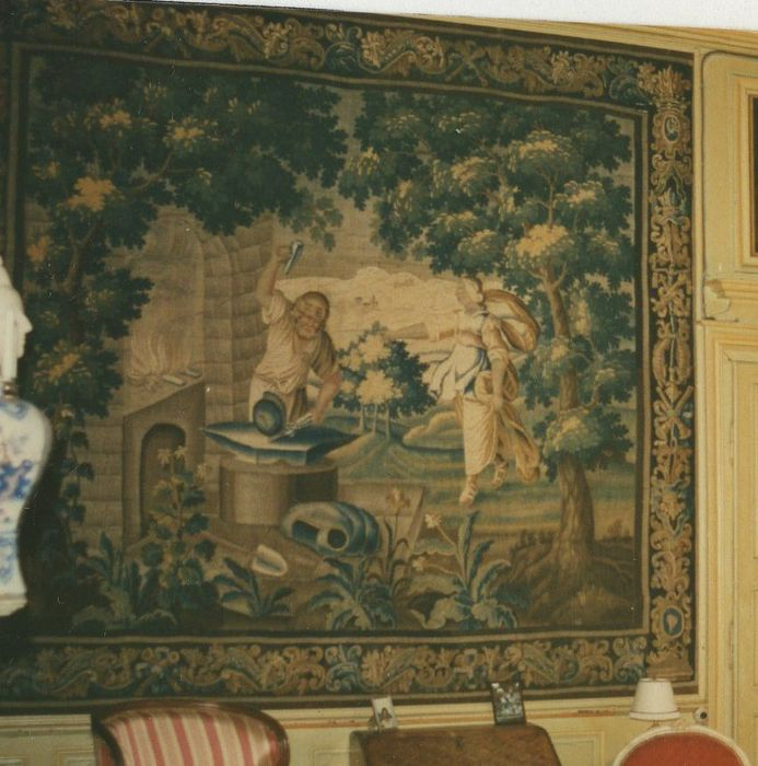Pièce murale : roi devant Vulcain (un)