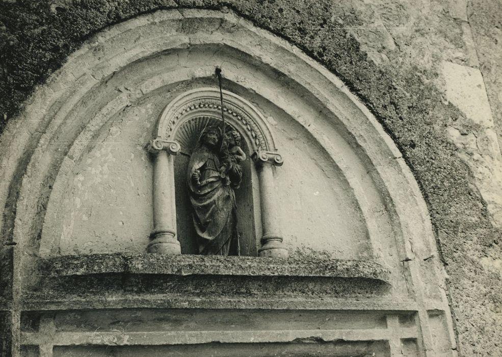 statue (statuette): Vierge à l'Enfant