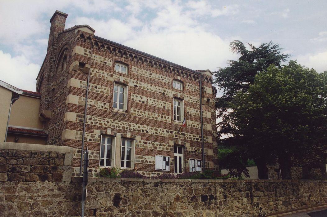 Ancien presbytère, actuellement mairie: Façade sud, vue générale