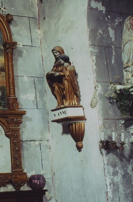 groupe sculpté: Education de la Vierge (l')