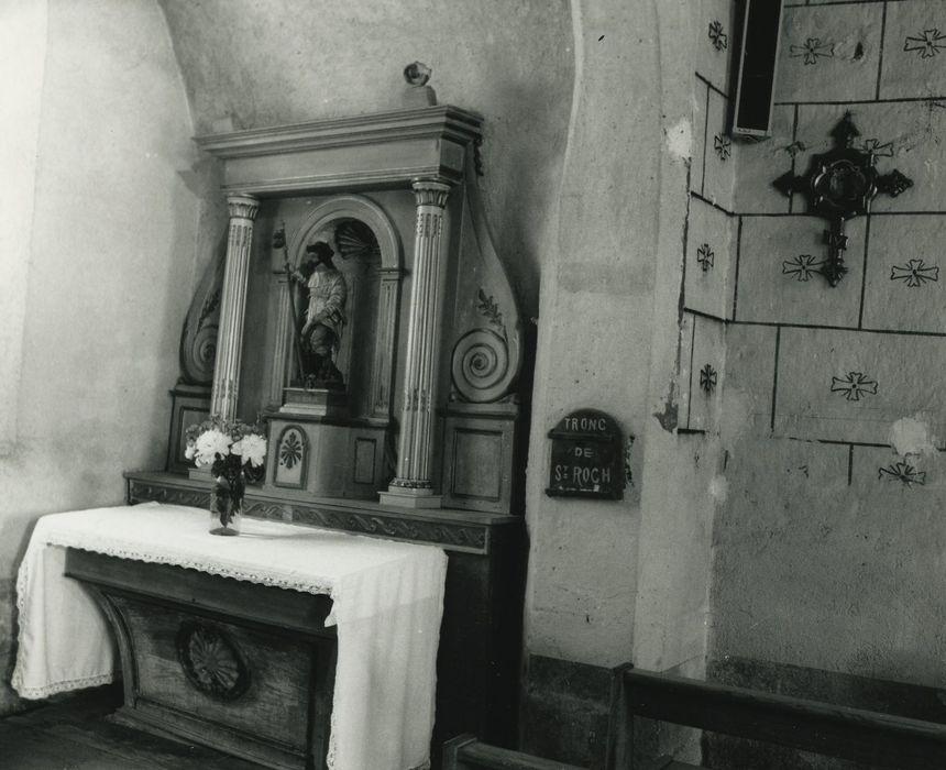 retable latéral, statue: Saint Roch