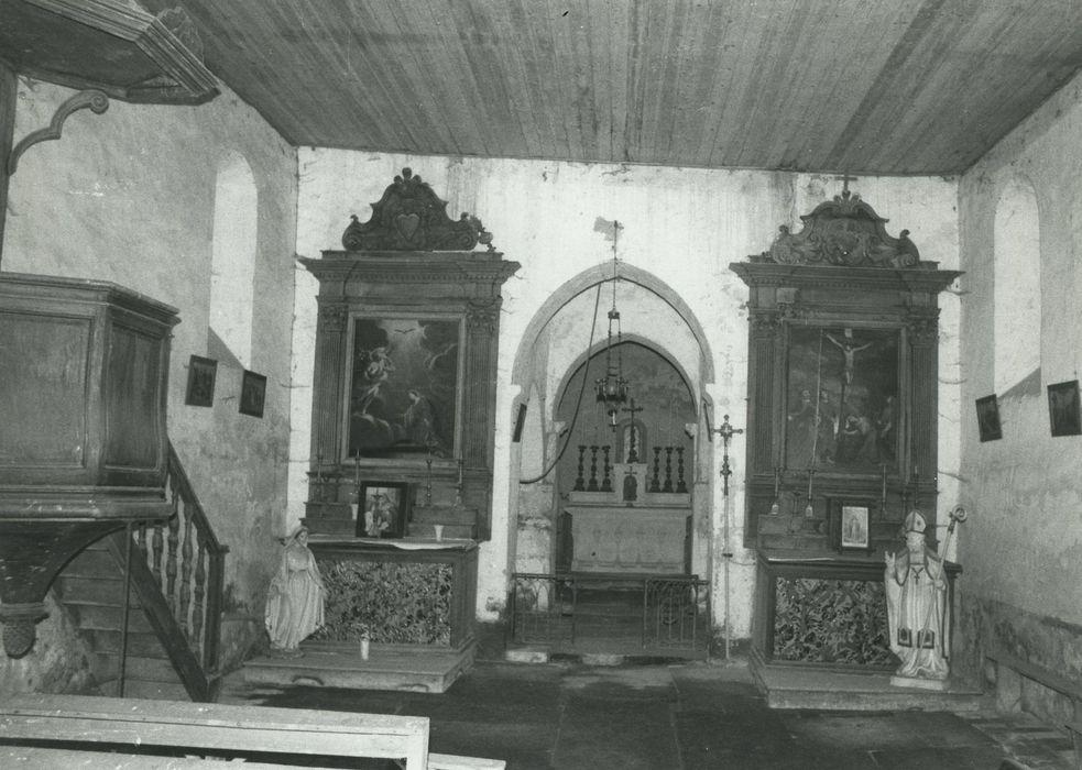 Tableau : Crucifixion avec la Vierge, sainte Madeleine, saint Jean et un évêque