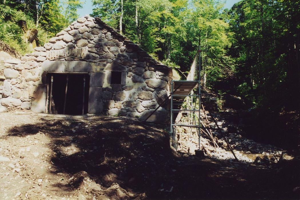 Moulin de Drils: Pignon d'entrée, vue générale