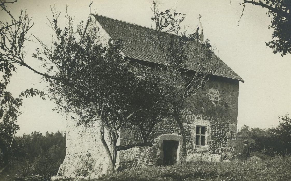 Chapelle de la Tour Pourçain: Façades sud et ouest, vue partielle