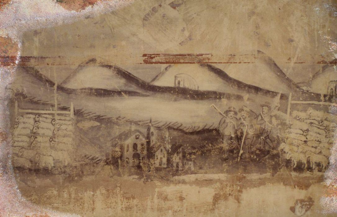 Chapelle de pélerinage Saint-Benoit: Peintures monumentales, détail