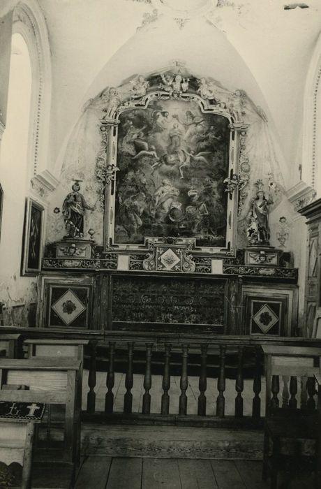 retable, tableau : Impératrice Marie-Thérèse d'Autriche, reine de Bohème et de Hongrie et le duc François Etienne de Lorraine, grand duc de Toscane (L')