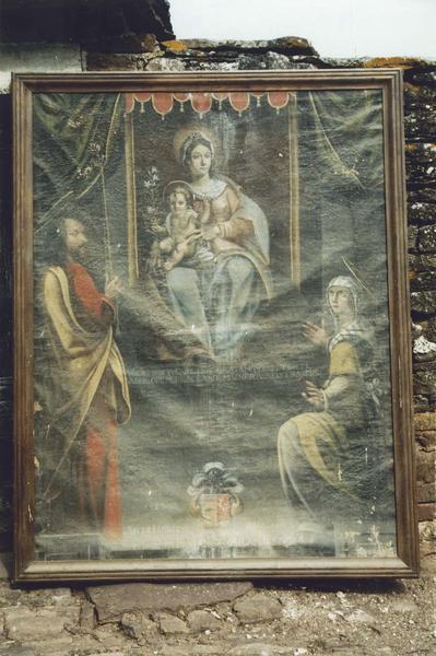 tableau : Vierge et l'Enfant avec saint Joseph et sainte Elisabeth