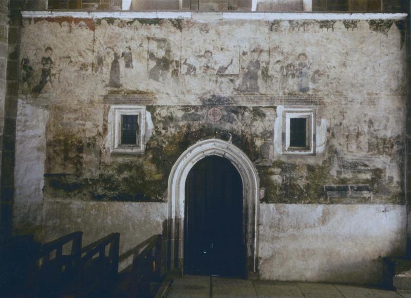 peinture monumentale : martyre de sainte Foy, ensemble de la peinture murale