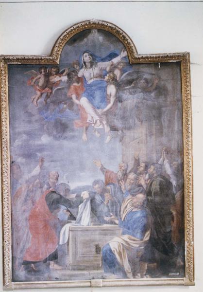 tableau : l'Assomption de la Vierge et les douze apôtres