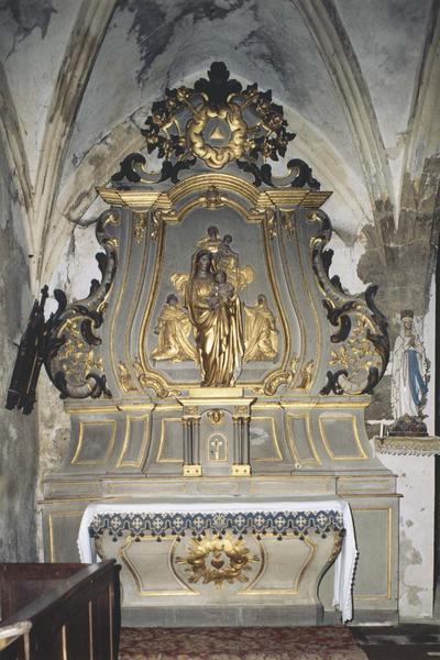 autel, retable, tabernacle (autel secondaire) du Rosaire