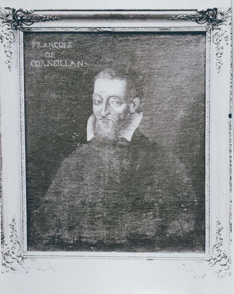Tableau, cadre : portrait de Françojs de Corneilhan