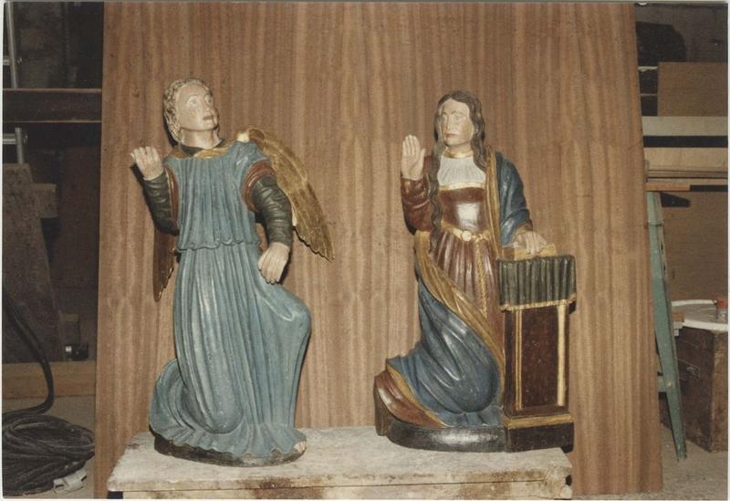 Groupe sculpté : Annonciation (l'), vue générale