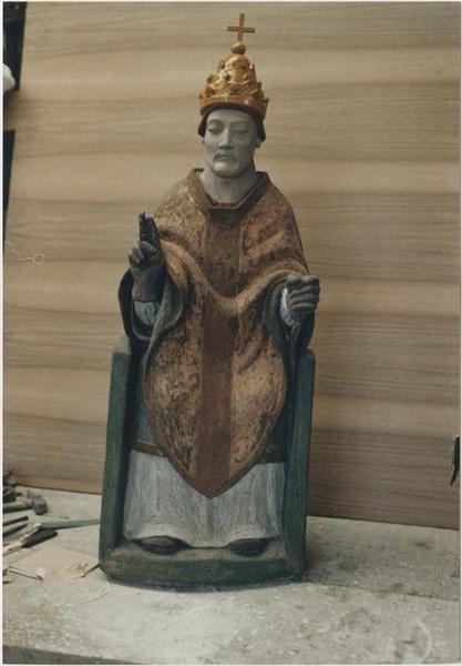Statue (statuette): saint Marcel pape, vue générale