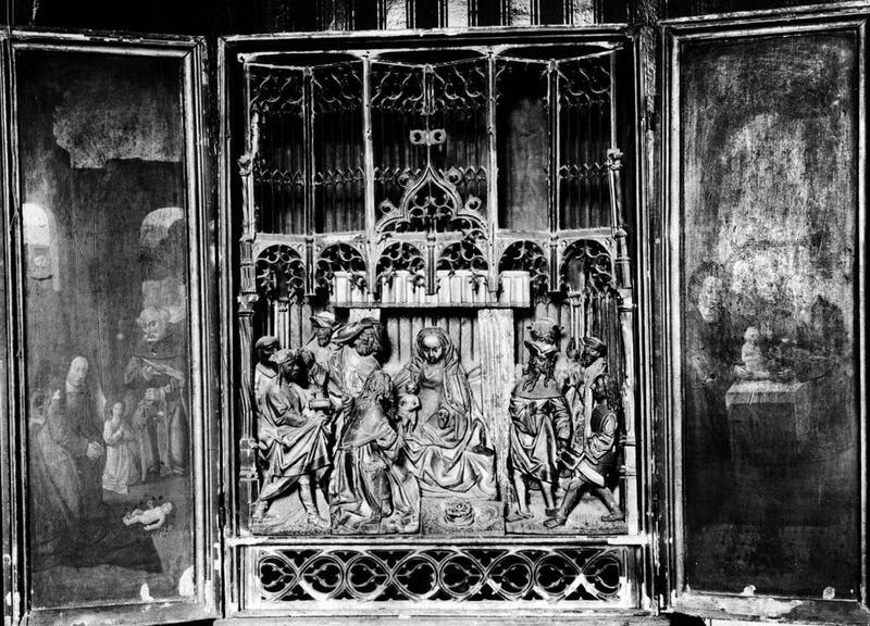 bas-relief (triptyque) : l'Adoration des Mages, vue générale