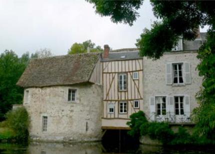 Moulin de la Couture : détail de la façade sud-est