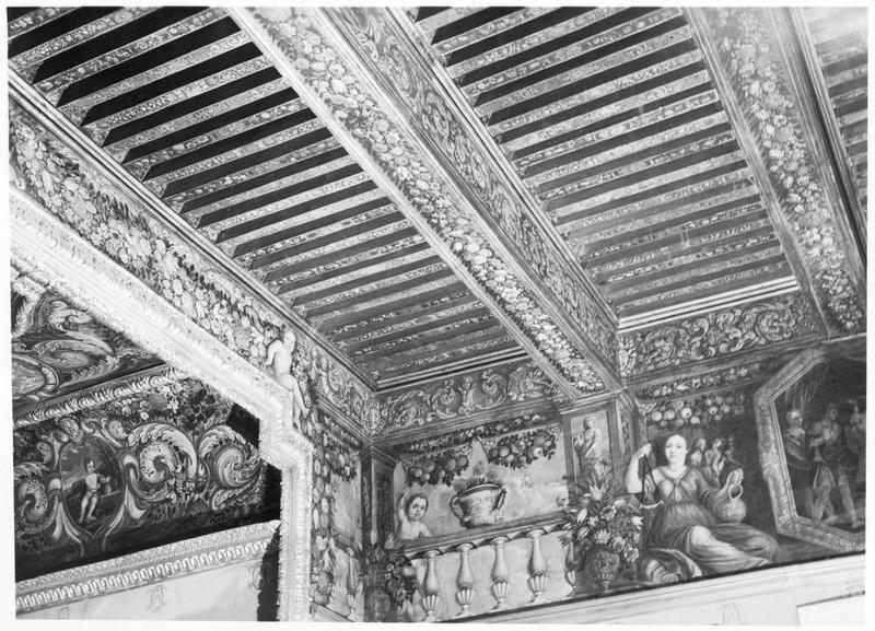 La peintures monumentales, plafond (décor du salon dit de Mirabeau), vue partielle
