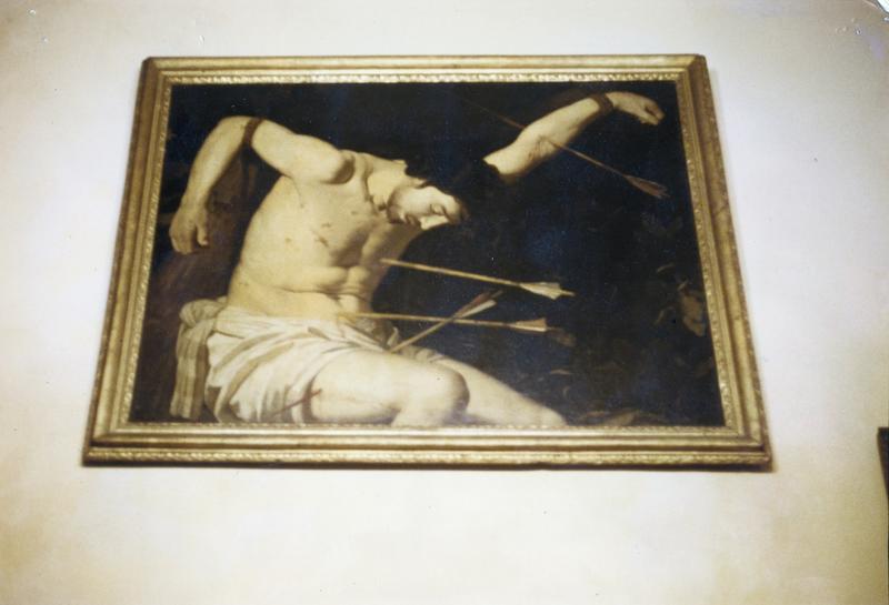 tableau : saint Sébastien, vue générale