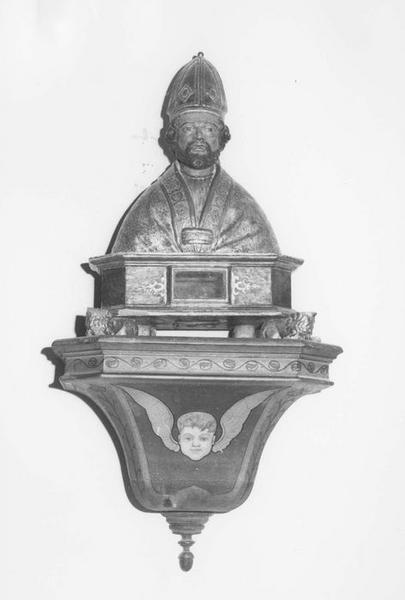 Deux bustes-reliquaires : Saint Léger, Saint Amand (ou Amant)