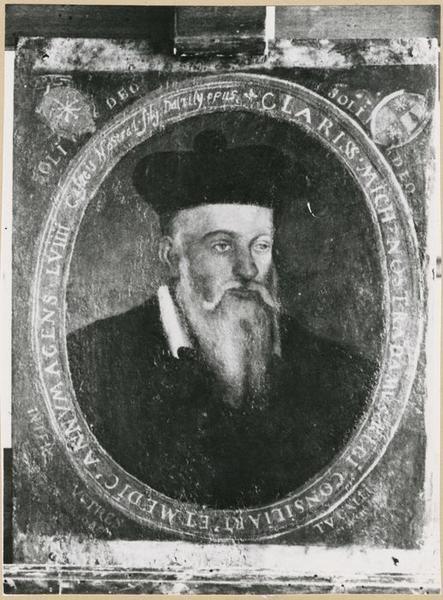 Tableau : portrait de Michel de Notre-Dame dit Nostradamus