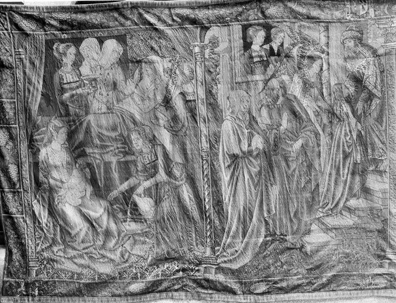 15 pièces murales : scènes de la vie de la Vierge et du Christ