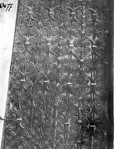 vantaux de la porte principale, vue partielle