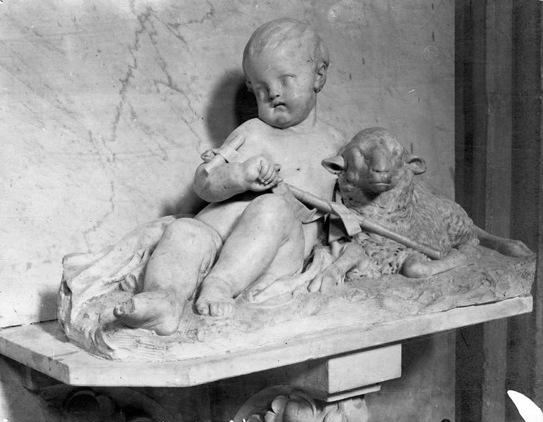 2 groupes sculptés : l'Enfant Jésus, saint Jean-Baptiste enfant