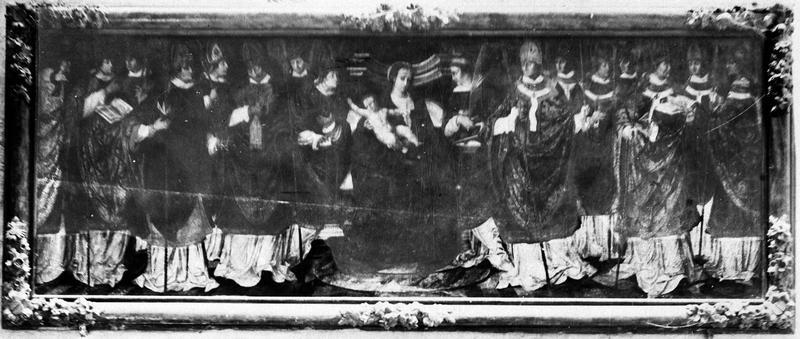 Tableau : un Concile d'évêques présidé par la Vierge