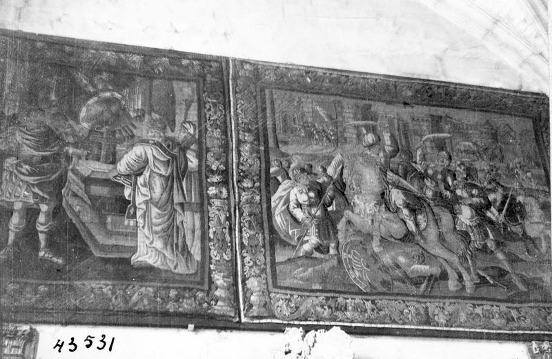 3 pièces murales : scènes de l'histoire des Hébreux